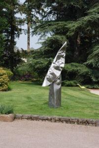 Pour les entrepreneurs mécènes - La lune en colère sculpture monumentale en inox