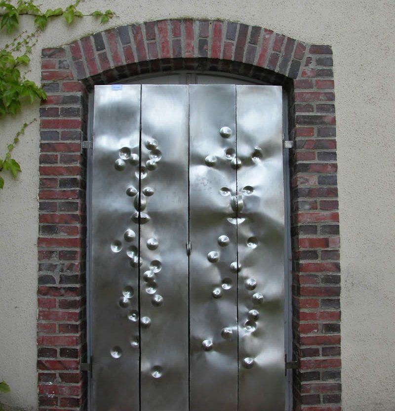 Porte aux fantômes protection artistique anti-vol en inox 304L