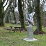 Tango sculpture inox