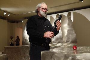Alain Vuillemet au Karlax, performance pour la Nuit des musées 2013 au Creusot Montceau
