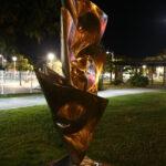 sculpture la nuit