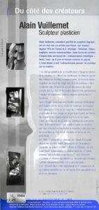 Alain Vuillemet sculpteur plasticien du coté des Créateurs avec ses sculptures monumentales réalisées en chaudronnerie d'inox.