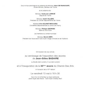 Invitation Chemin des Arts verso