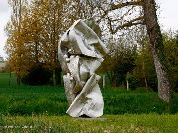 Vapeurs sculpture inox