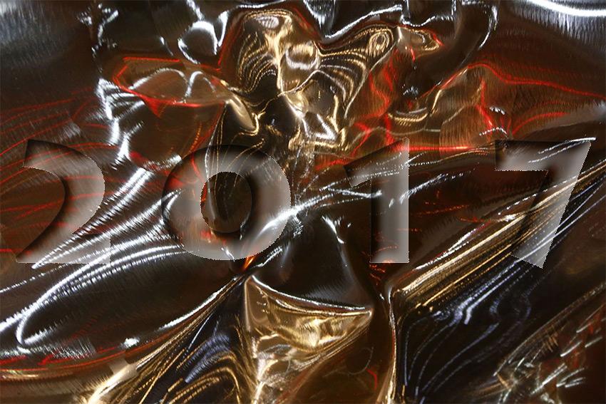 Pour les voeux 2017 reflet inox détail d'une sculpture réalisée en chaudronnerie d'inox