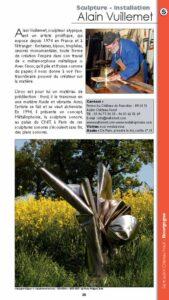 Guide des ateliers d'artistes Alain Vuillemet sculpteur page 35