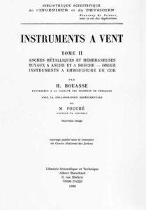 instruments à vent H. Bouasse