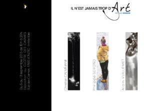 Il n'est jamais trop d'art exposition à Jonzac le carton d'invitation