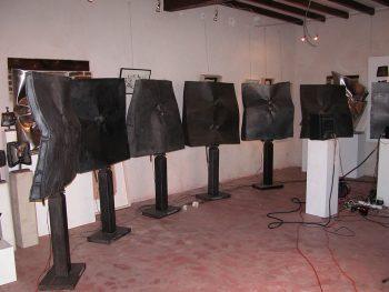 Les Septentrions alignement des 7 sculptures sonores
