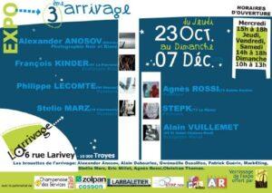 Vernissage à l'Arrivage galerie à Troyes en 2008