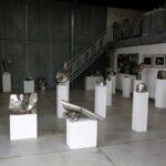 Vue de la salle d'exposition 30 oeuvres en inox sont exposées pour les portes ouvertes de l'Yonne 2019, l'exposition restera en place jusque fin août 2019. Les sculptures sont réalisées en inox