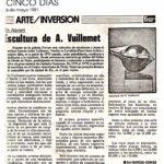 cinco-dias-6-05-1981 En Novart Escultura de A. Vuillemet