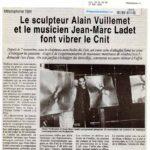 courrier-hauts-seine-17-11-1994 Le sculpteur Alain Vuillemet et le musicien Jean-Marc Ladet font vibrer le Cnit