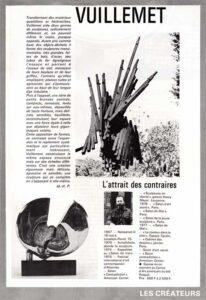 presse galerie-des-arts-176-1978 Vuillemet l'attrait des contraires