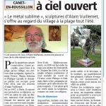 presse Indépendant exposition à ciel ouvert Le métal sublimé d'Alain Vuillemet