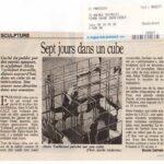 le-parisien-8-11-1994 Sept jours dans un cube en Altuglas