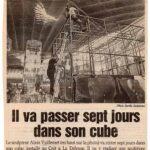 le-parisien-HS-8-11-1994 Il va passer sept jours dans son cube
