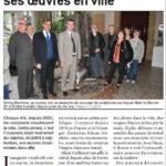 presse Lejsl Alain Vuillemet dissémine ses oeuvres en ville