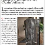 presse lejsl Autun Sculptures dans la ville String machine sculpture sonore