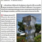 presse lejsl Autun Sculptures dans la ville Colonne tassée IV sculpture inox