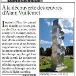 presse lejsl Autun Sculptures dans la ville Impacts sculpture inox