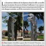 presse lejsl Autun Sculptures dans la ville Deux lunes sculpture inox