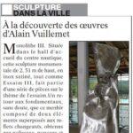 presse lejsl Autun Sculptures dans la ville Monolithe III sculpture inox