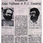 nouvelle-republique-10-1979 exposition Couarraze Vuillemet à la galerie Images