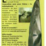 presse Saint-Fargeau Une nuit des musées Métallophonique