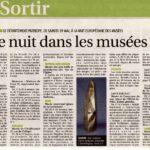 presse Yonne-Mag Sortir Une nuit dans les musées pour la nuit européenne