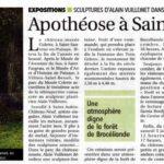 presse Yonne-Mag expositions Apothéose à Saint-Sauveur, sculptures dans le parc du musée Colette