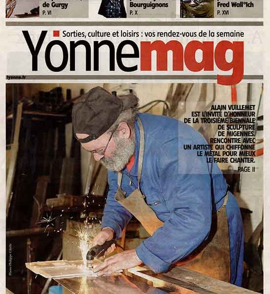 presse Yonne-Mag Poèmes en fer A. Vuillemet fait chanter le métal