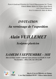 Invitation au vernissage de l'exposition