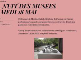 La rétrospective en 2012 des oeuvres d'Alain Vuillemet au Musée d'Art et d'Histoire de Puisaye