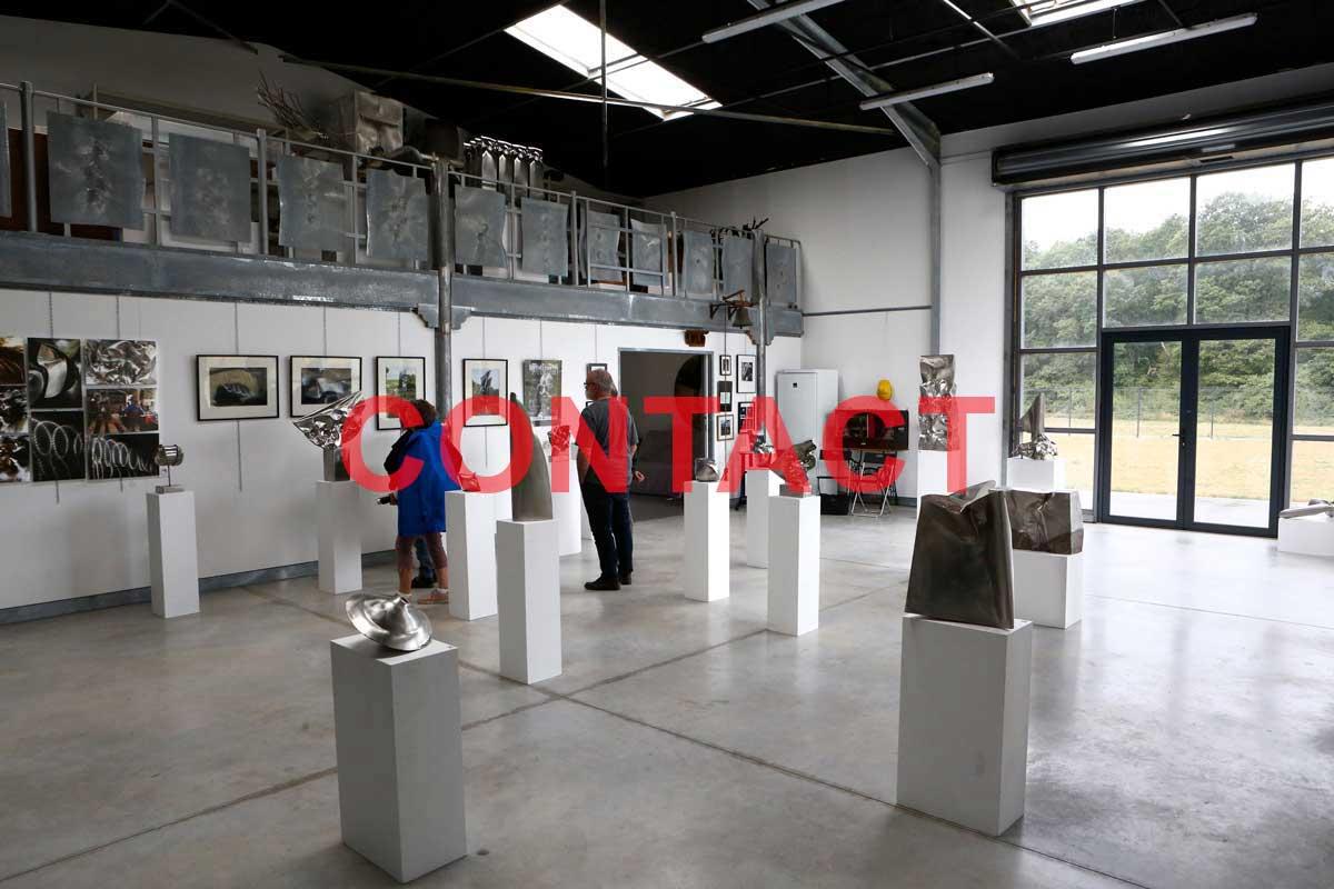 page de contact d'Alain Vuillemet sculpteur créateur de sculptures monumentales