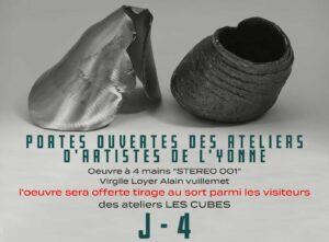 Portes ouvertes des ateliers d'artistes de l'Yonne 2021, Virgile Loyer et Alain Vuillemet exposent aux ateliers LES CUBES